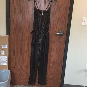 Free People Black Sequin Jumpsuit!!! NWT